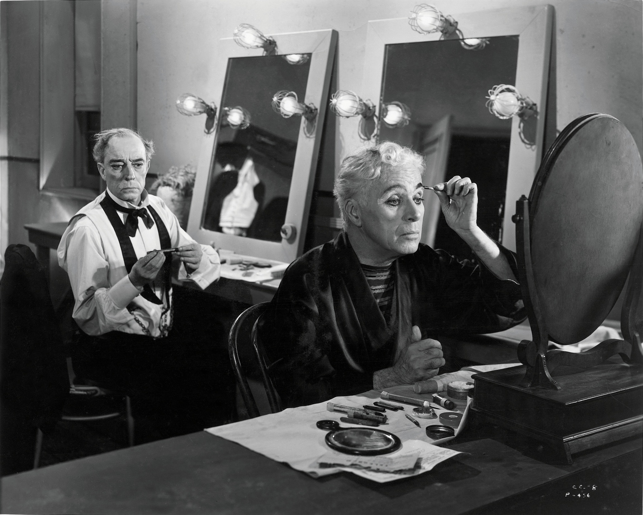 Still of Buster Keaton and Charles Chaplin in Limelight (1952)