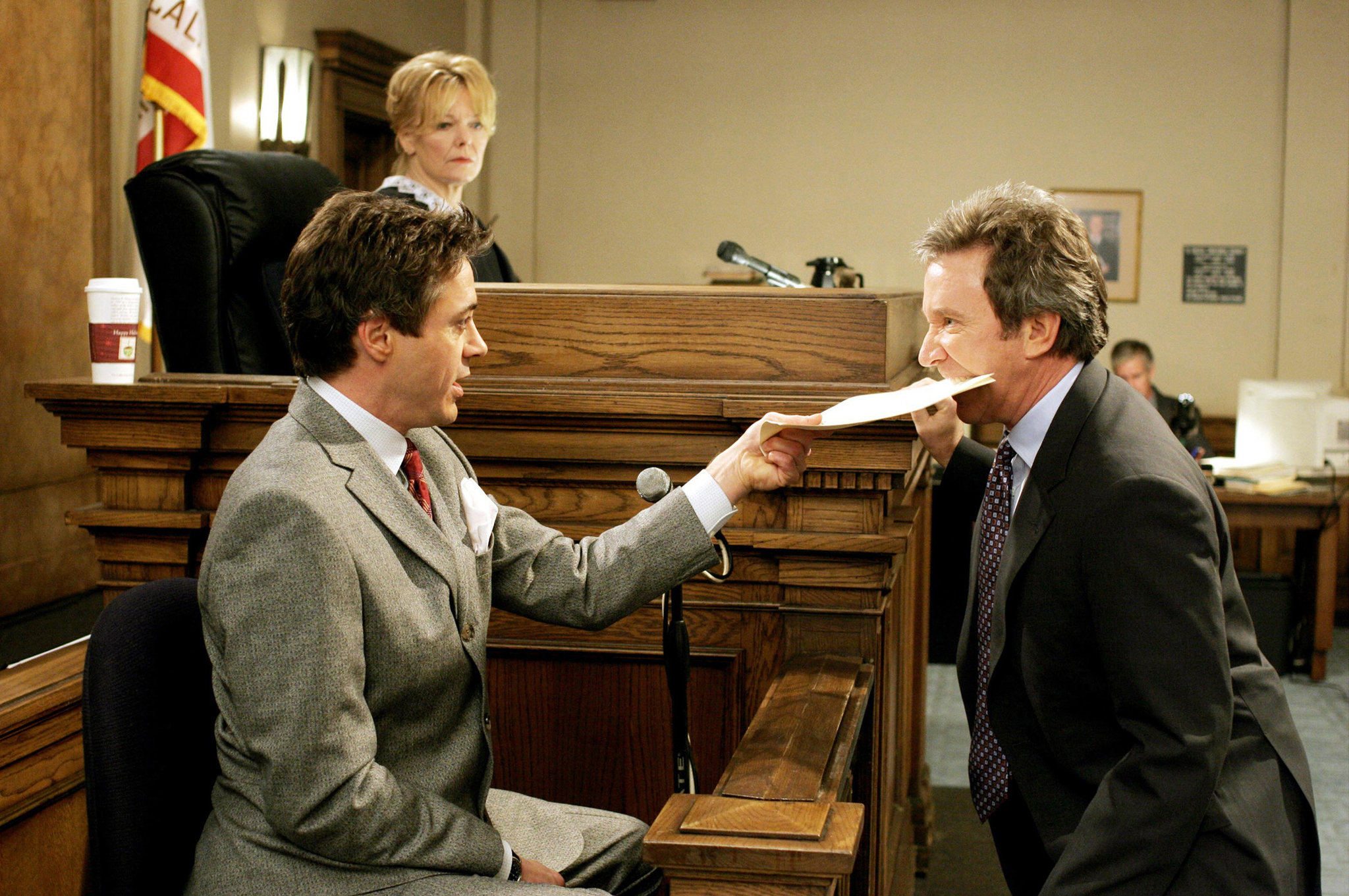 Still of Robert Downey Jr., Tim Allen and Jane Curtin in The Shaggy Dog (2006)
