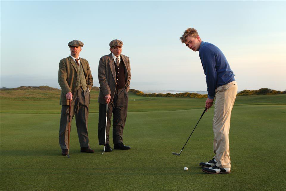 Still of Mason Gamble and David O'Hara in Golf in the Kingdom (2010)