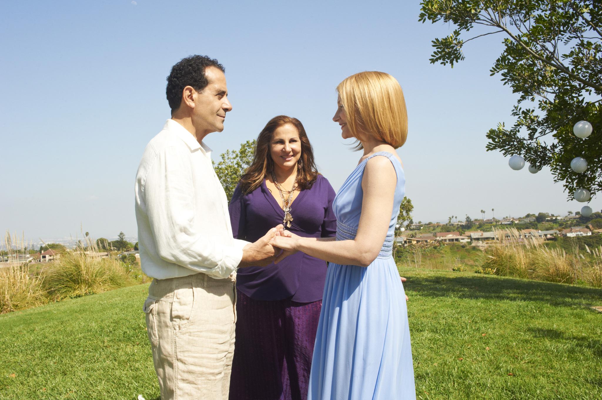 Still of Kathy Najimy, Tony Shalhoub and Patricia Clarkson in Five (2011)