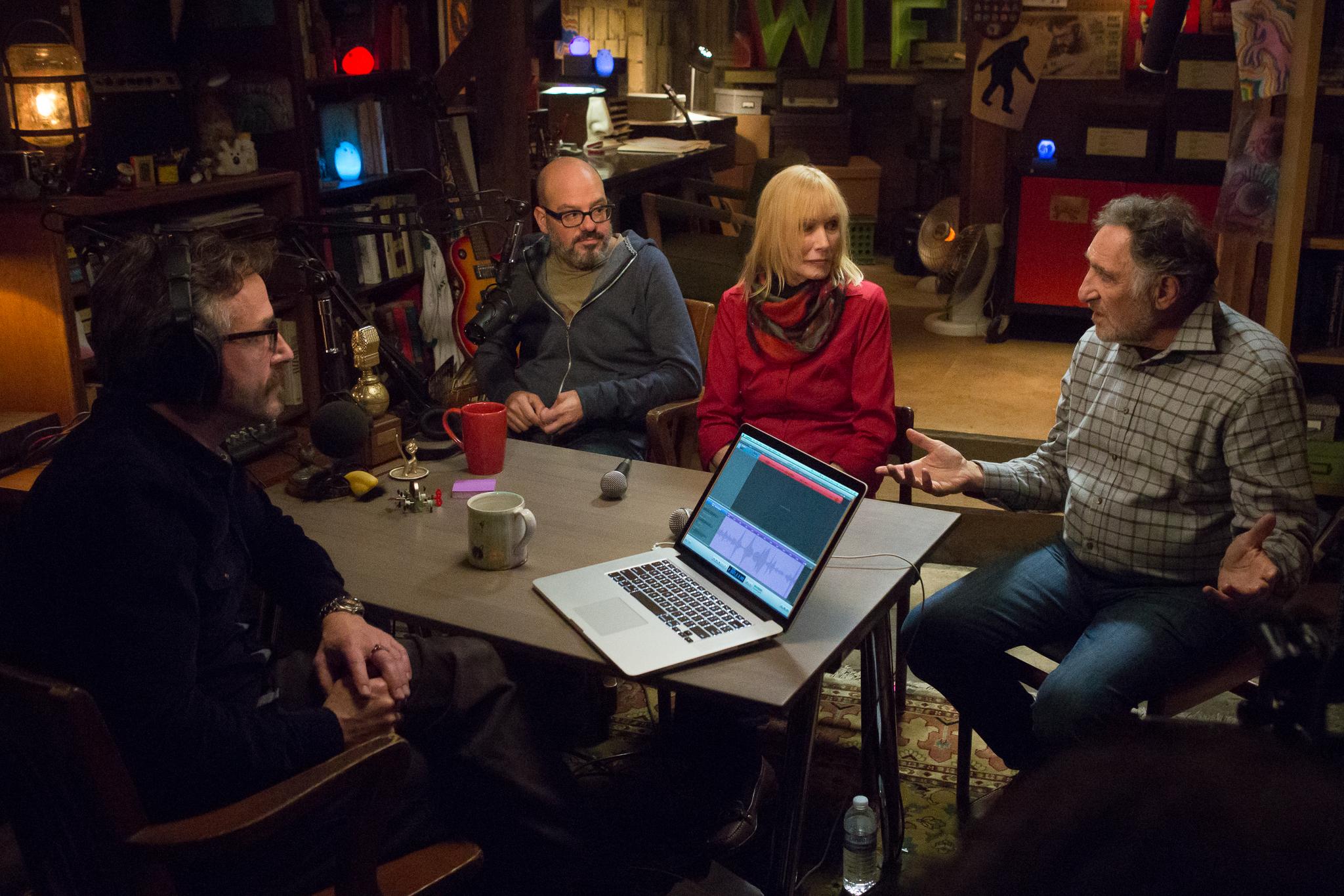 Still of Sally Kellerman, Judd Hirsch, David Cross and Marc Maron in Maron (2013)