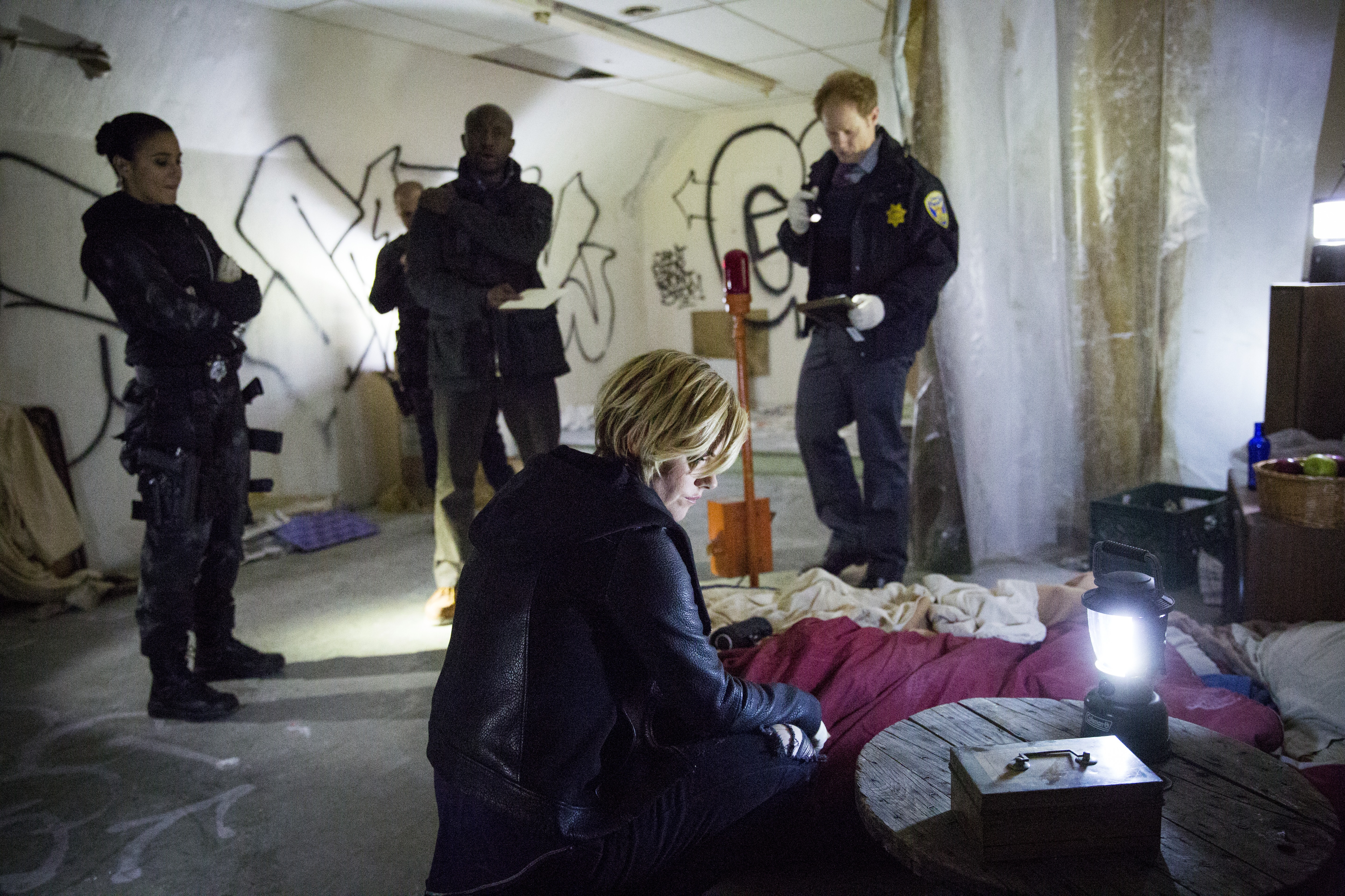 Still of Emmanuelle Chriqui, Taye Diggs, Kathleen Robertson and A.J. Buckley in Murder in the First (2014)