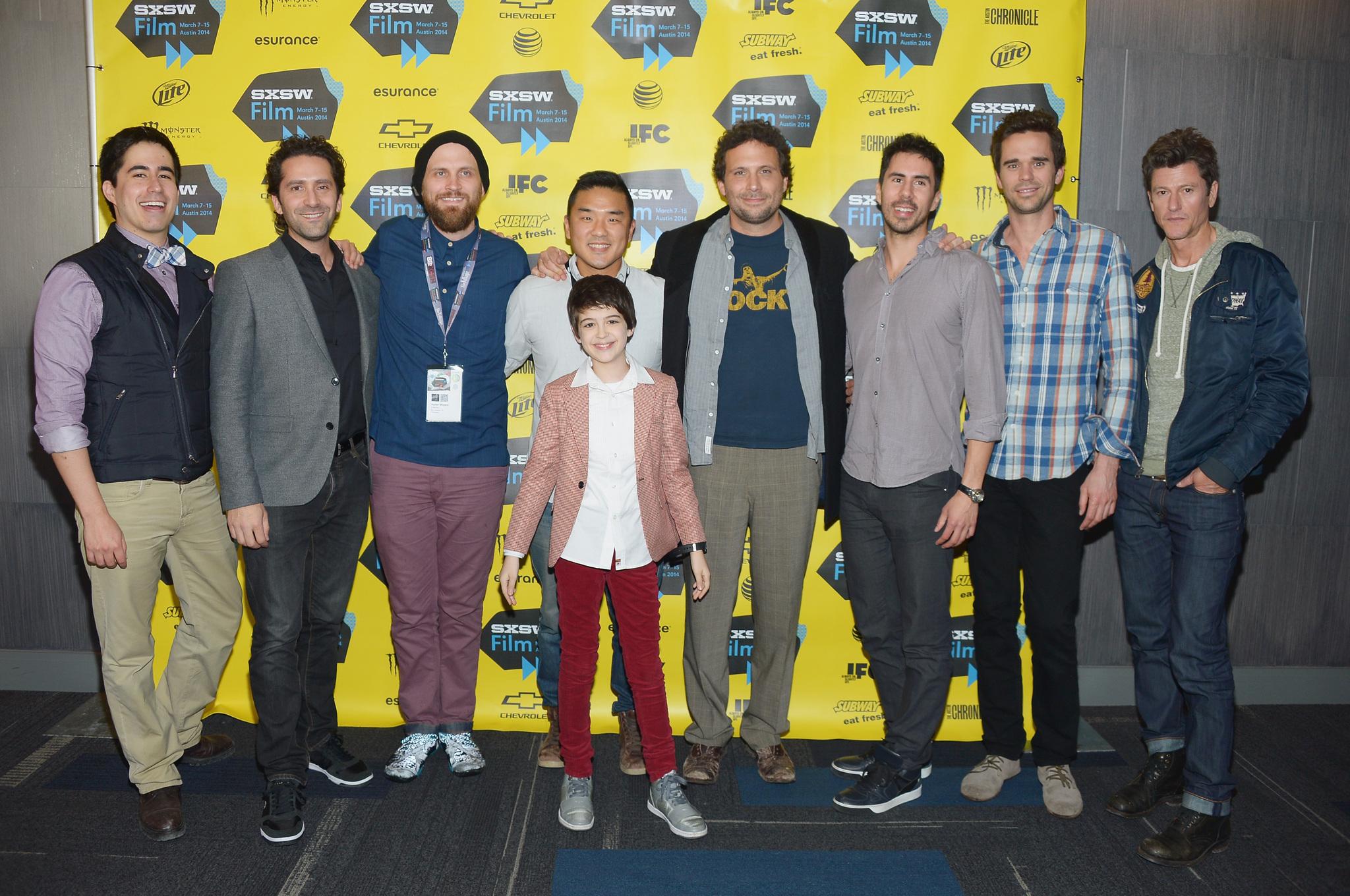 Jeremy Sisto, Vincent Ventresca, Jay Karas, David Walton, Gene Hong, Victor Moyers, Joshua Rush, Gabriel Hammond and Daniel Hammond at event of Break Point (2014)