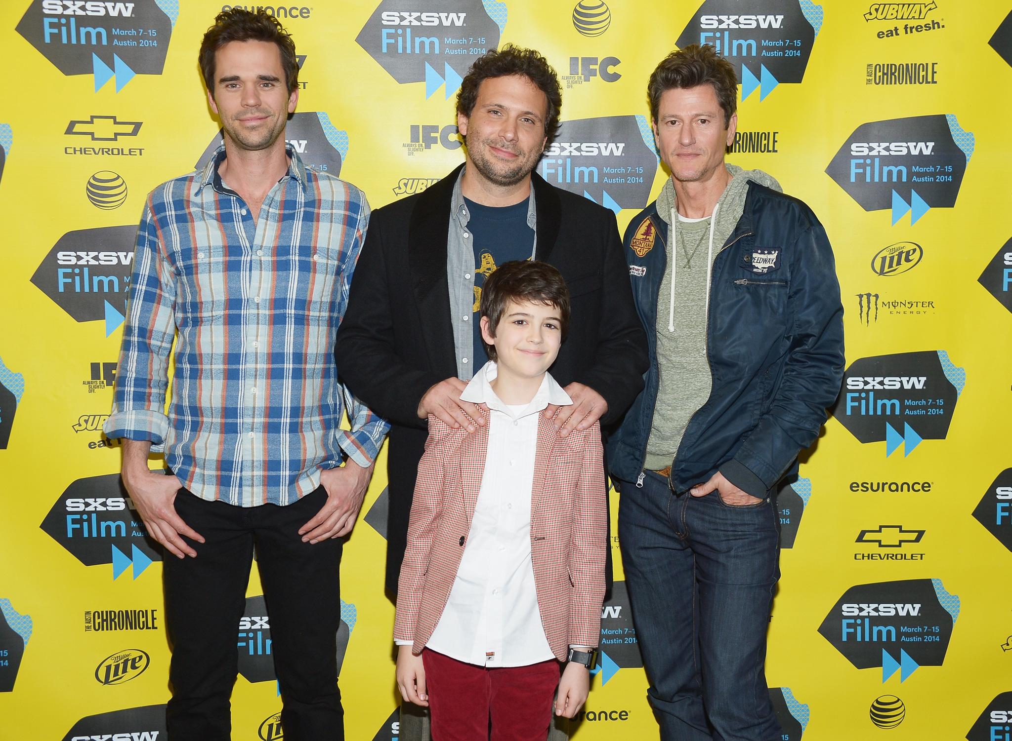Jeremy Sisto, Vincent Ventresca, David Walton and Joshua Rush at event of Break Point (2014)
