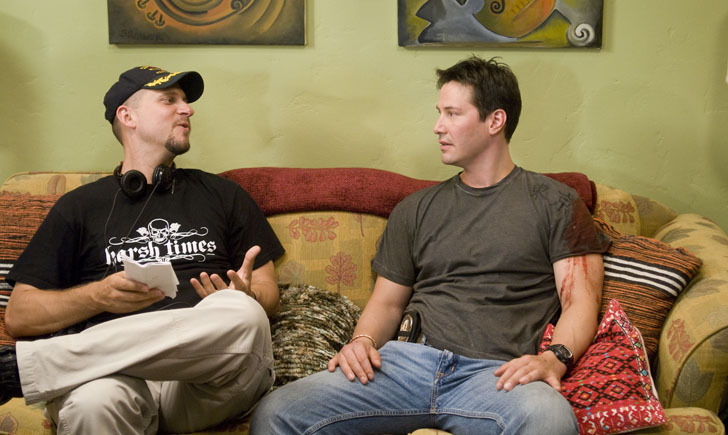 Still of Keanu Reeves and David Ayer in Street Kings (2008)