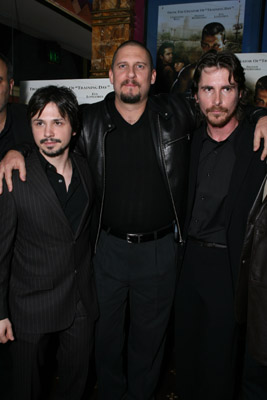 Christian Bale, David Ayer and Freddy Rodríguez at event of Harsh Times (2005)