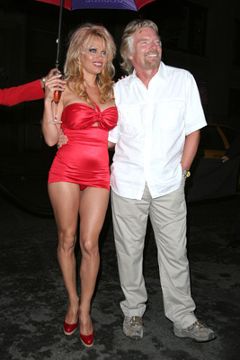 Pamela Anderson and Richard Branson