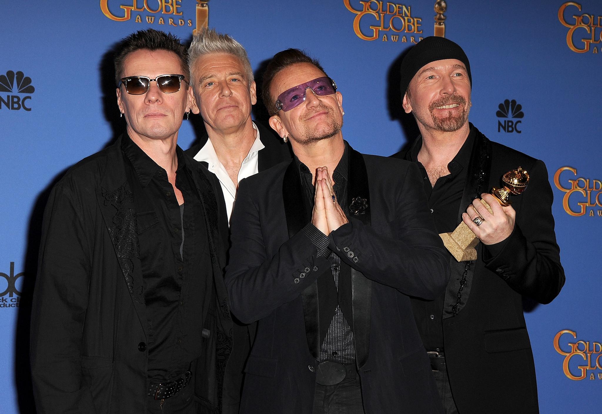 Bono, Adam Clayton, Larry Mullen Jr., The Edge and U2