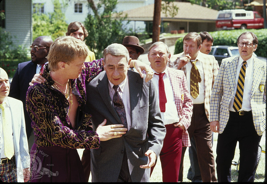 Still of Anthony Michael Hall and Howard Cosell in Johnny Be Good (1988)