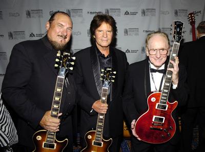 John Fogerty, Steve Cropper and Les Paul