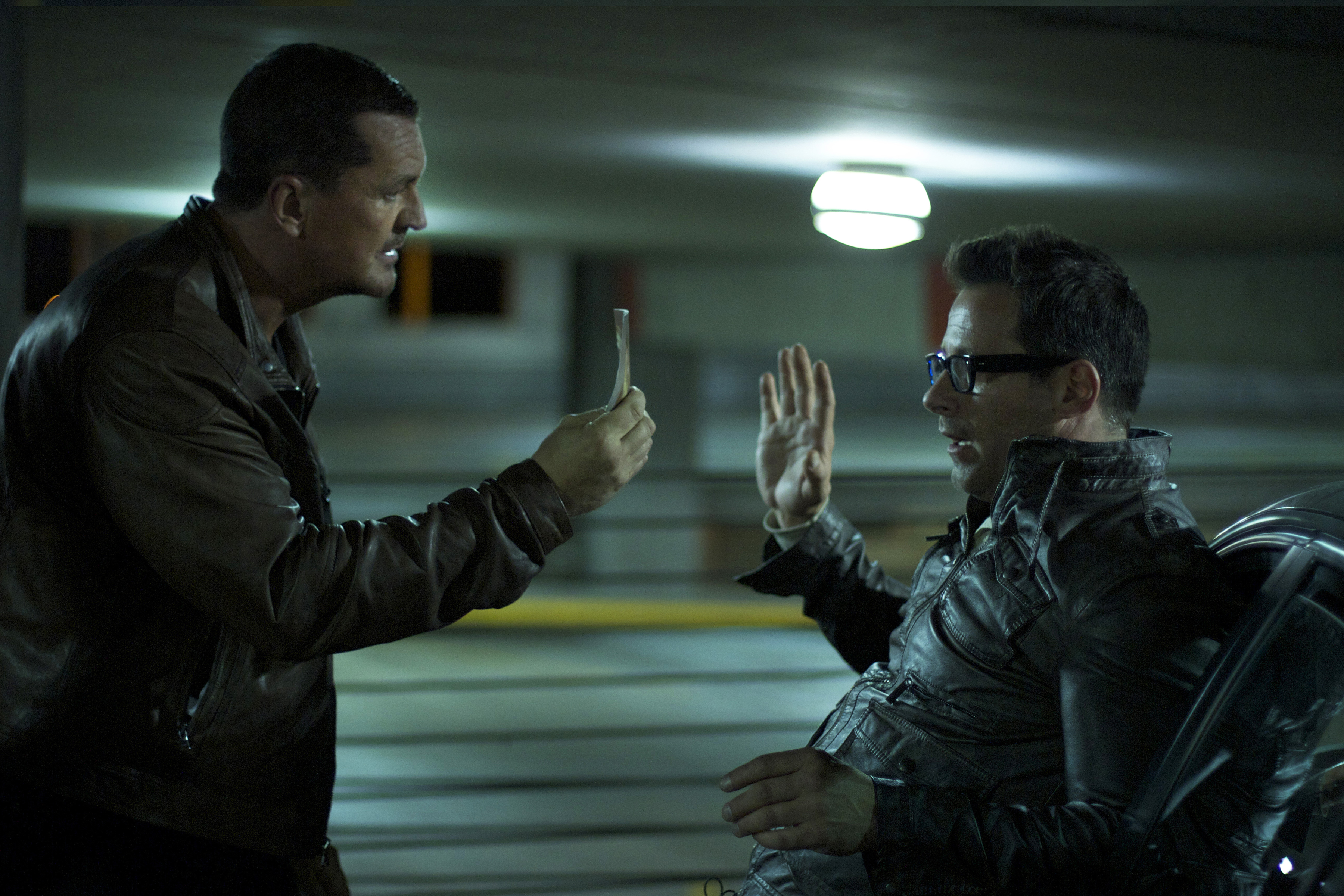 Still of Craig Fairbrass and Johnny Messner in The Outsider (2014)