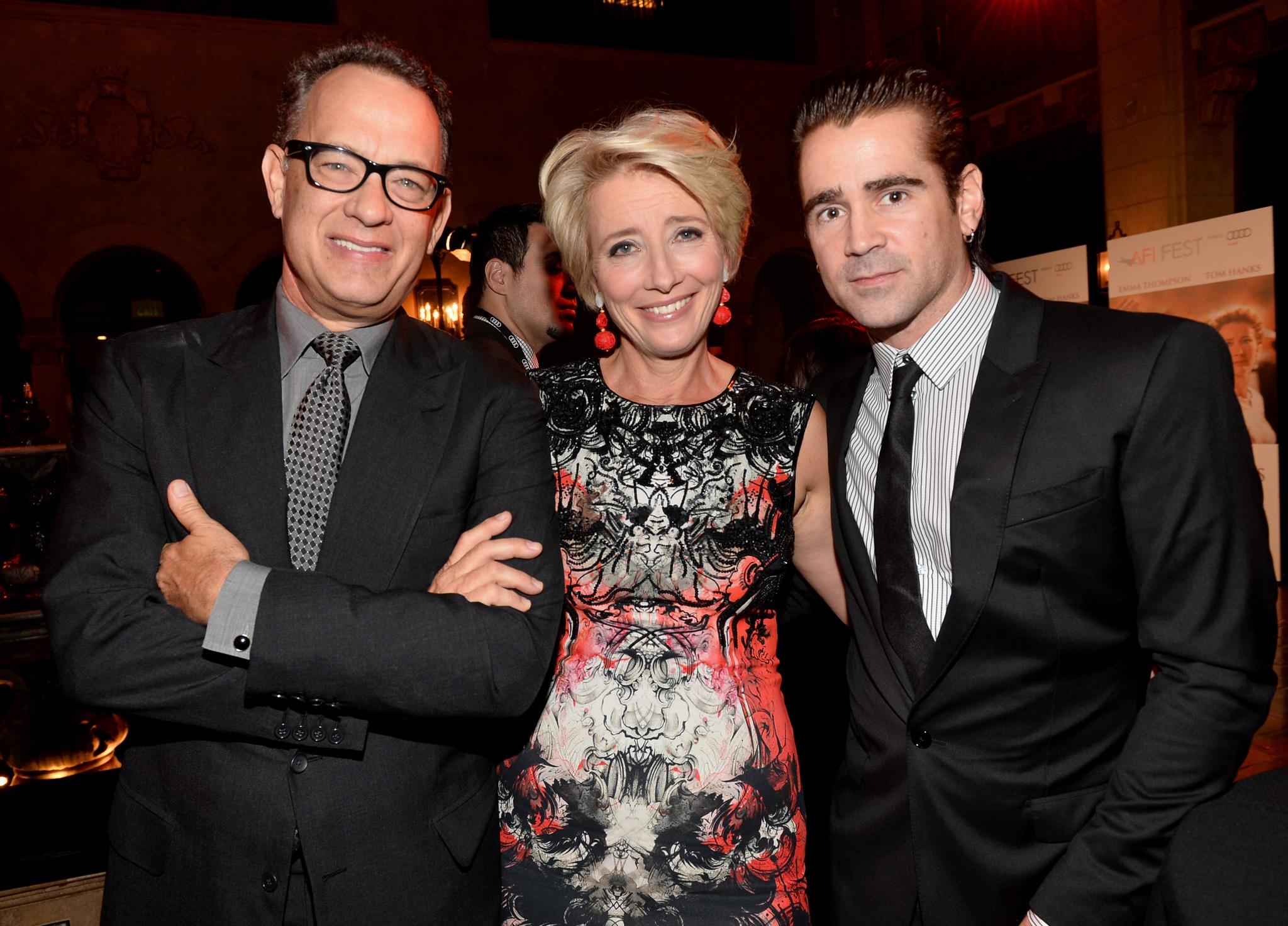Tom Hanks, Emma Thompson and Colin Farrell at event of Isgelbeti pona Benksa (2013)