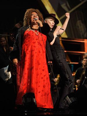 Annie Lennox and Aretha Franklin