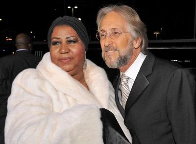 Aretha Franklin and Neil Portnow