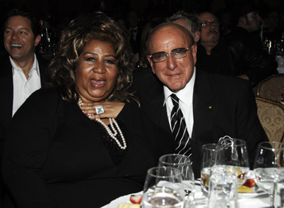 Clive Davis and Aretha Franklin