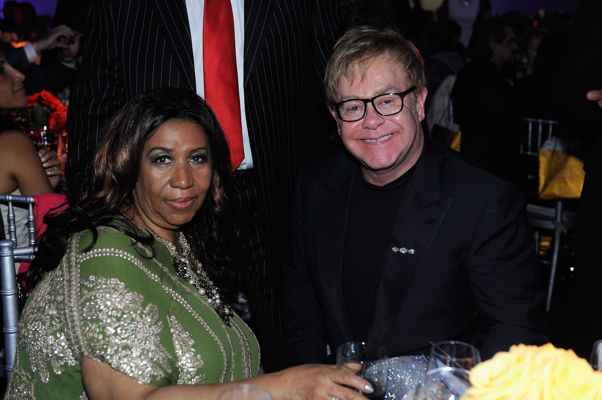 Elton John and Aretha Franklin