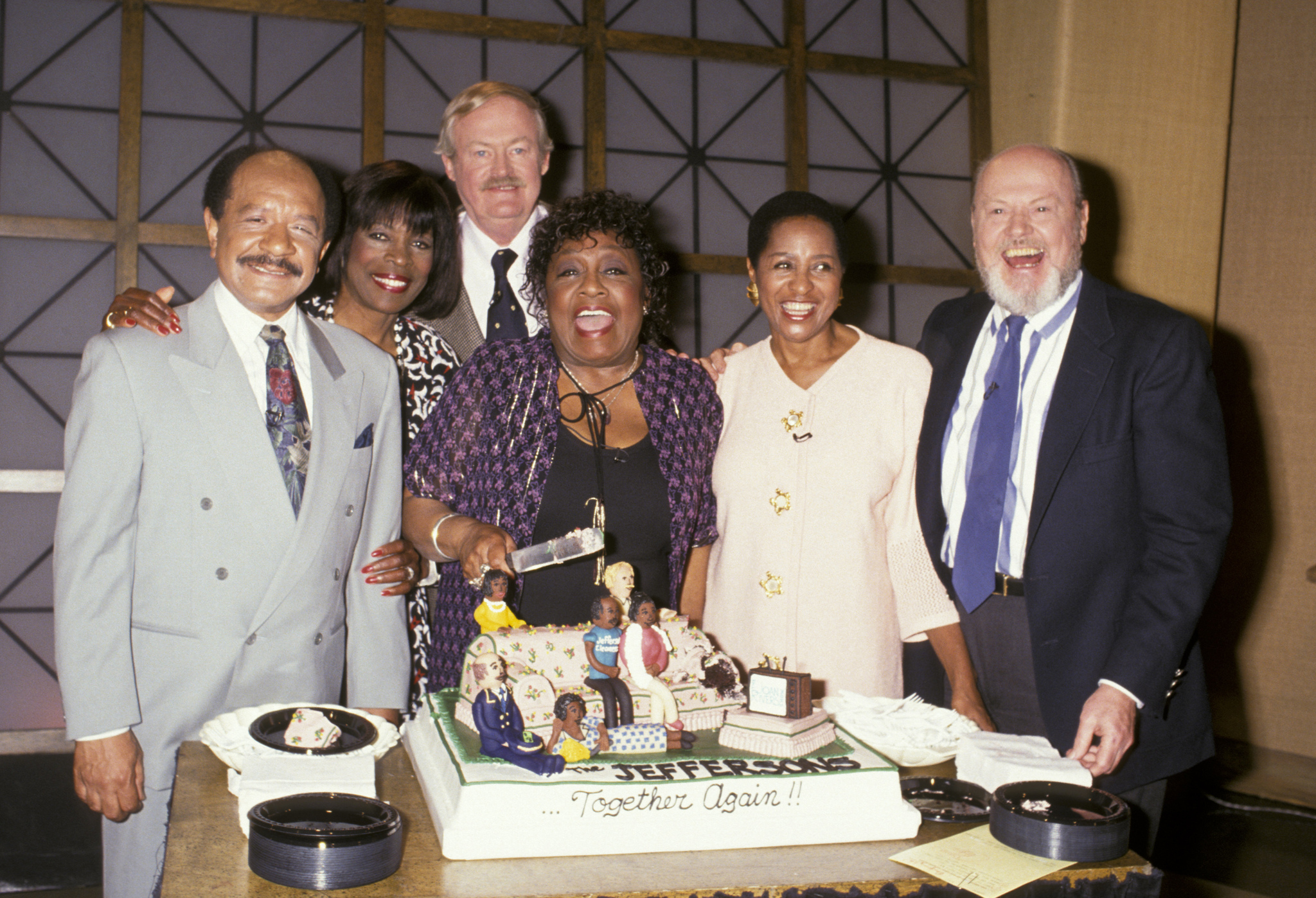 Marla Gibbs, Franklin Cover, Sherman Hemsley, Roxie Roker, Isabel Sanford and Ned Wertimer at event of The Jeffersons (1975)