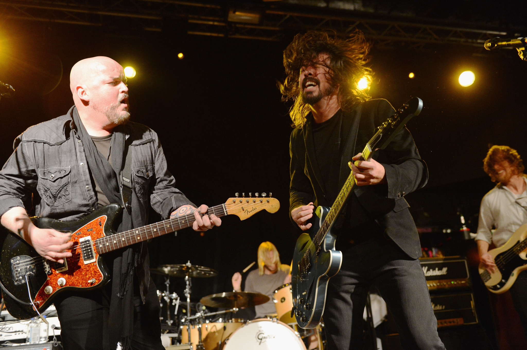 Dave Grohl and Alain Johannes