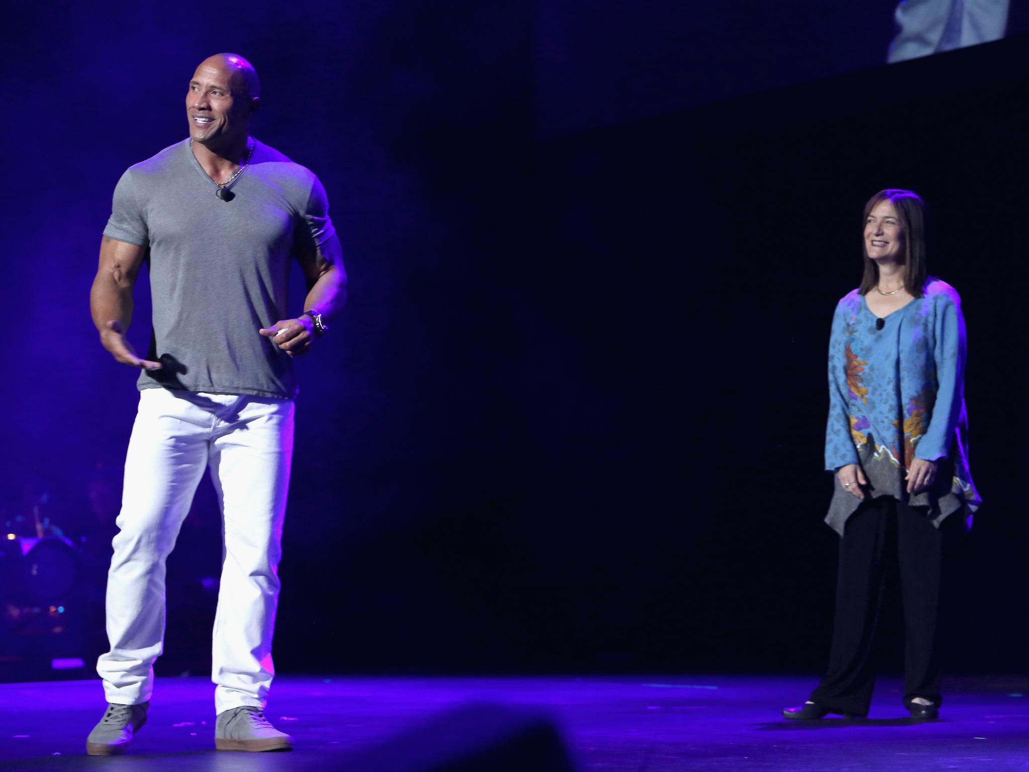 Dwayne Johnson and Osnat Shurer