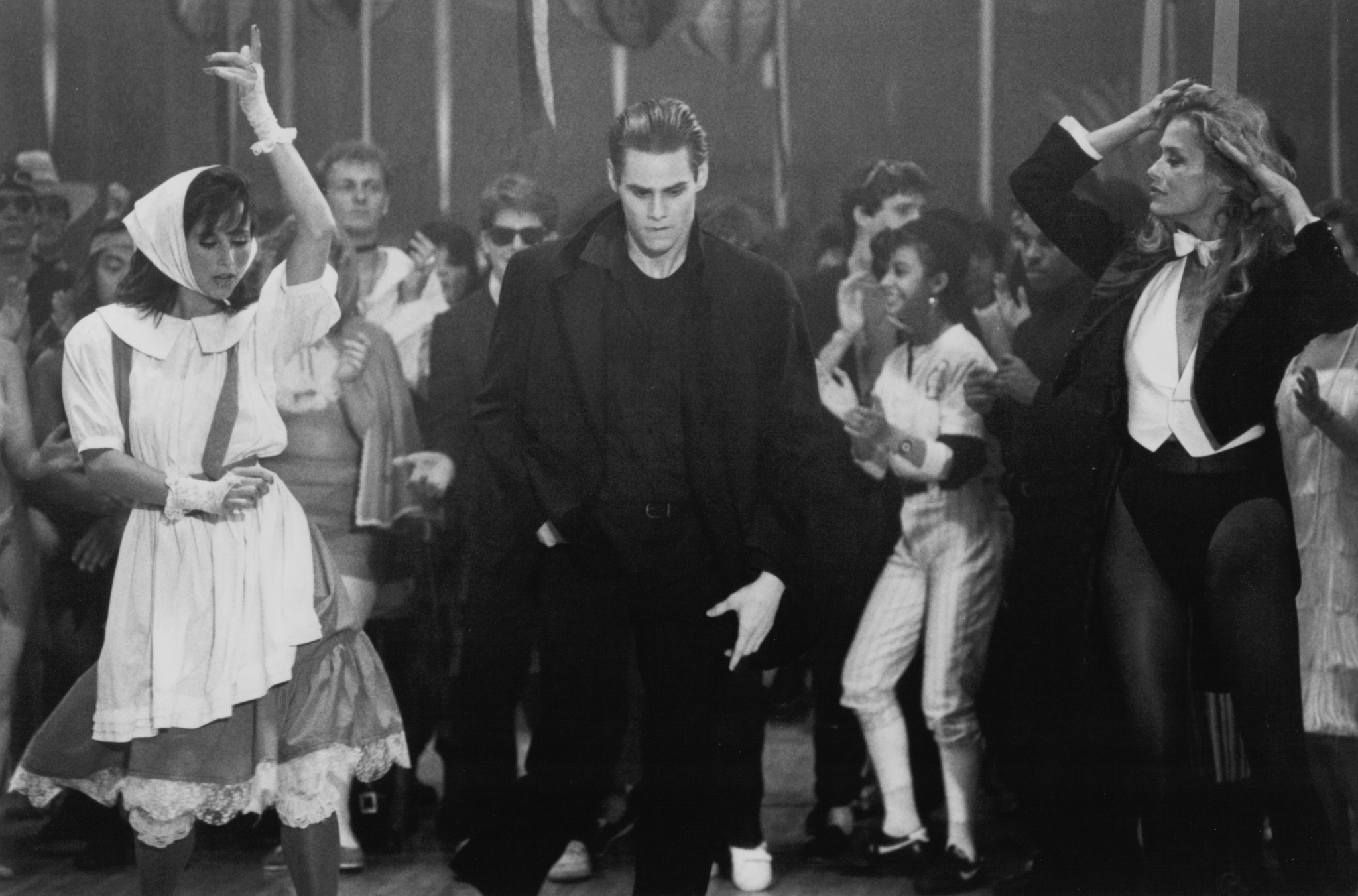 Still of Jim Carrey, Lauren Hutton and Karen Kopins in Once Bitten (1985)