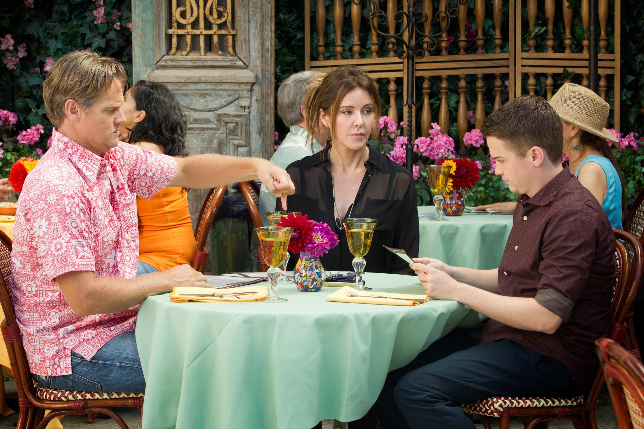Still of Dan Byrd, Christa Miller and Brian Van Holt in Cougar Town (2009)