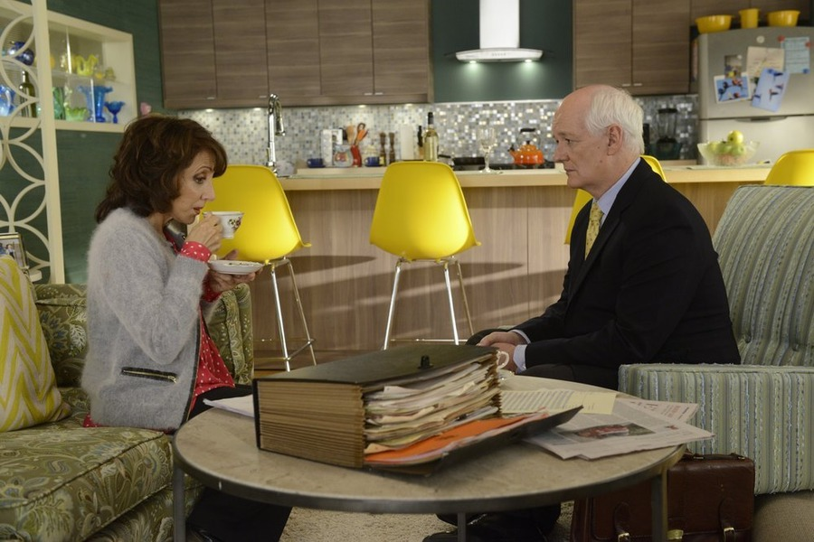 Still of Andrea Martin and Colin Mochrie in Working the Engels (2014)