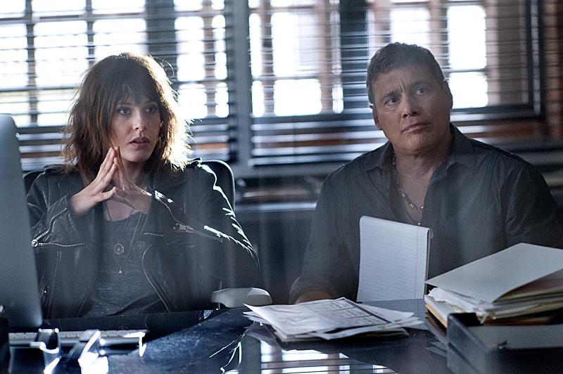 Still of Steven Bauer and Katherine Moennig in Ray Donovan (2013)