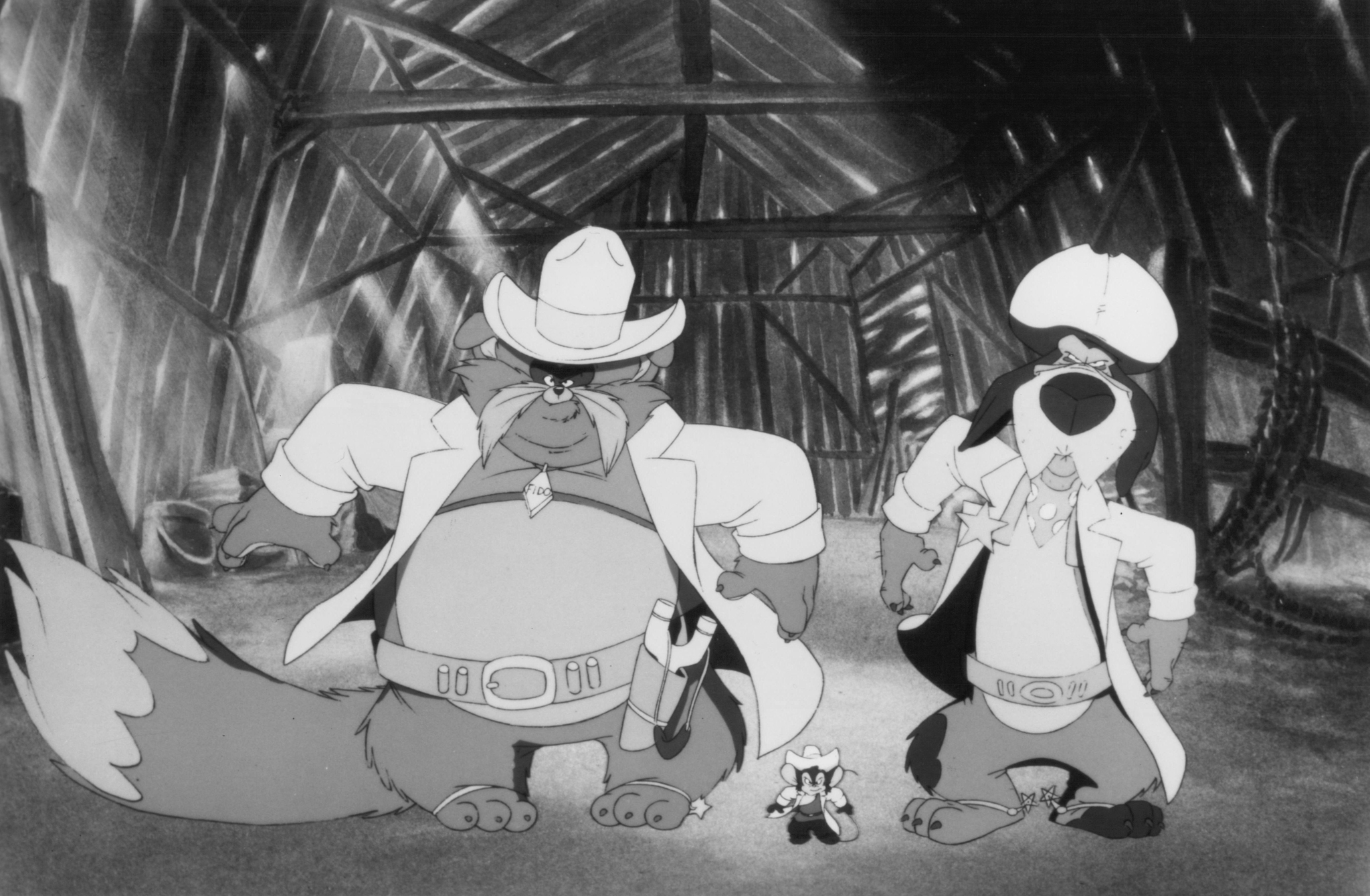 Still of John Cleese, Cathy Cavadini, Nehemiah Persoff and Erica Yohn in An American Tail: Fievel Goes West (1991)