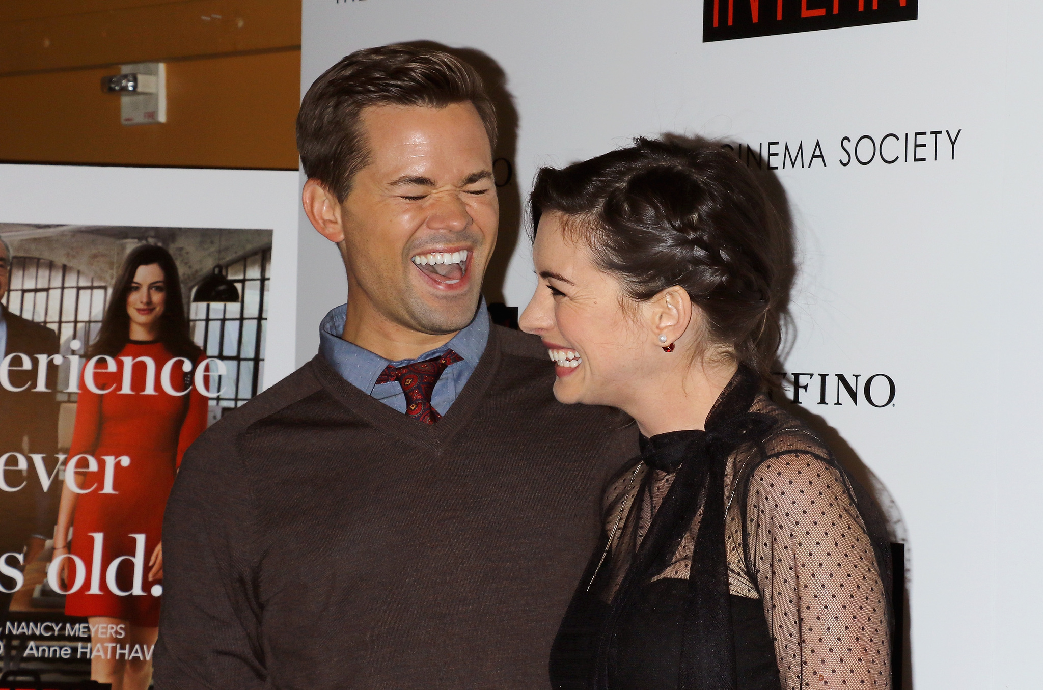 Anne Hathaway and Andrew Rannells