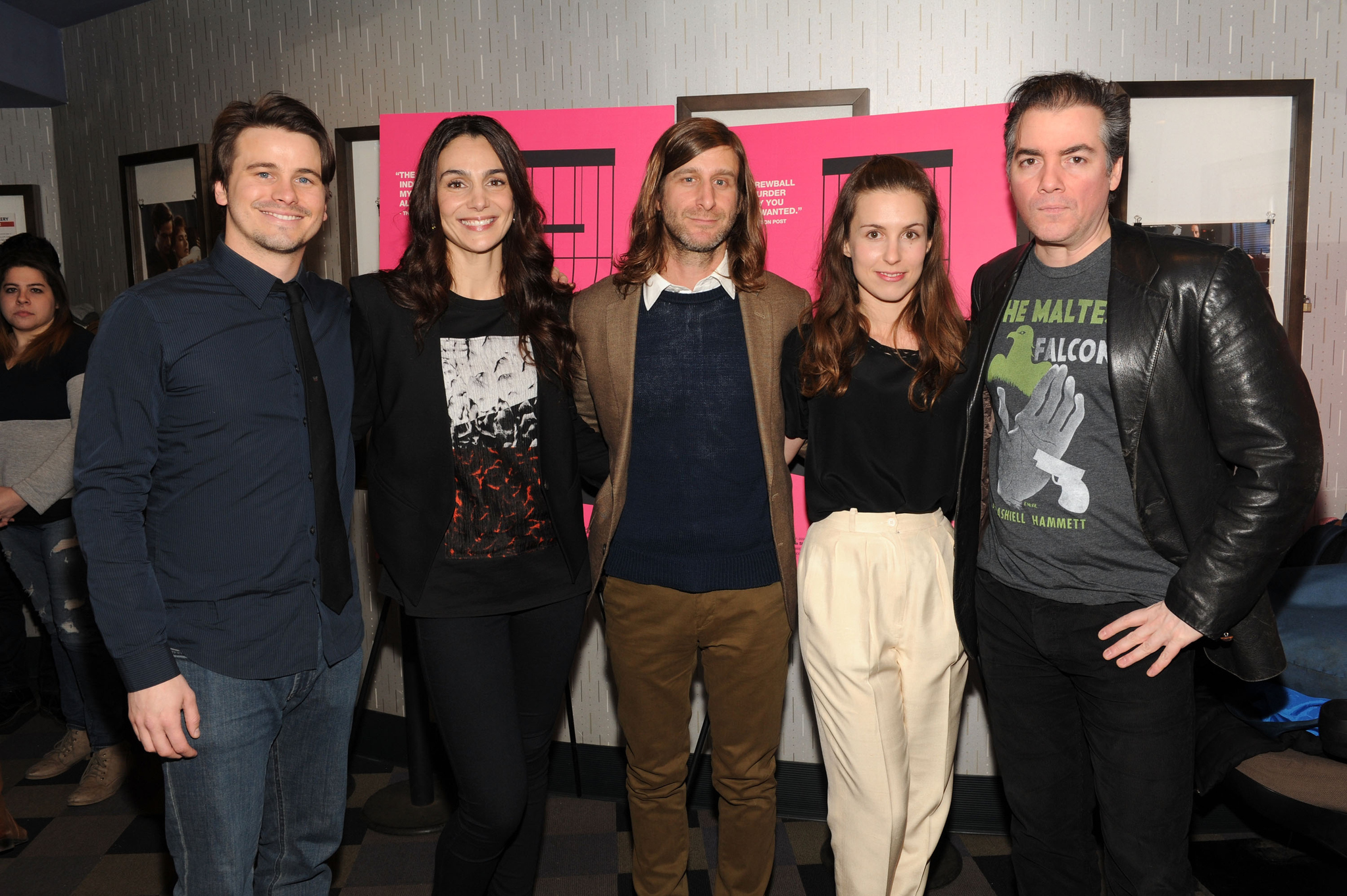 Kevin Corrigan, Annie Parisse, Jason Ritter, Lawrence Michael Levine and Sophia Takal at event of Wild Canaries (2014)