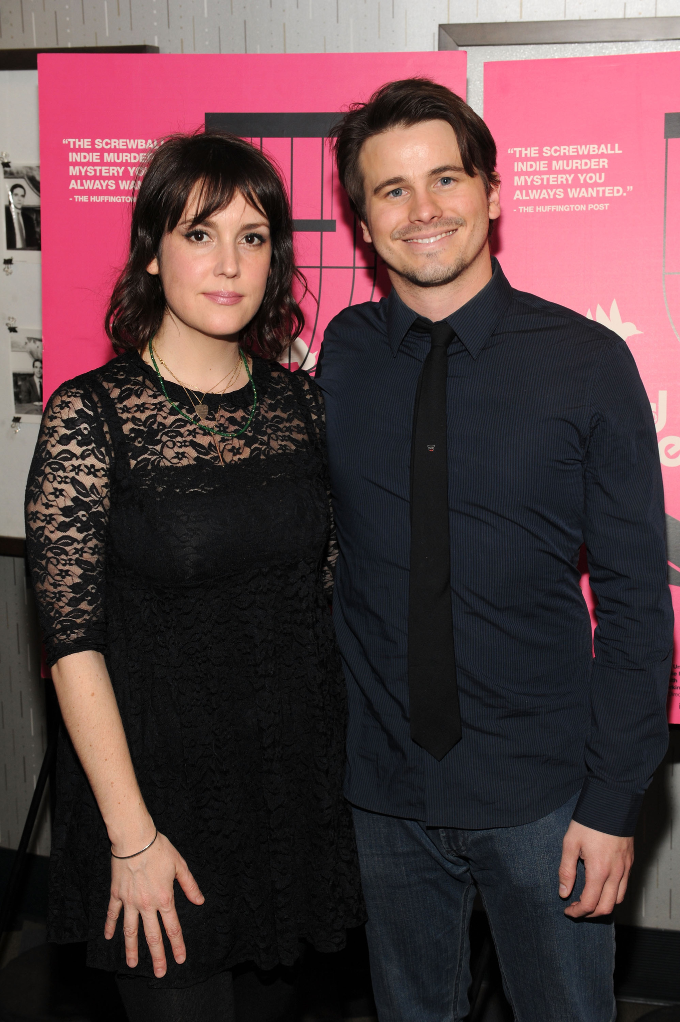 Melanie Lynskey and Jason Ritter at event of Wild Canaries (2014)