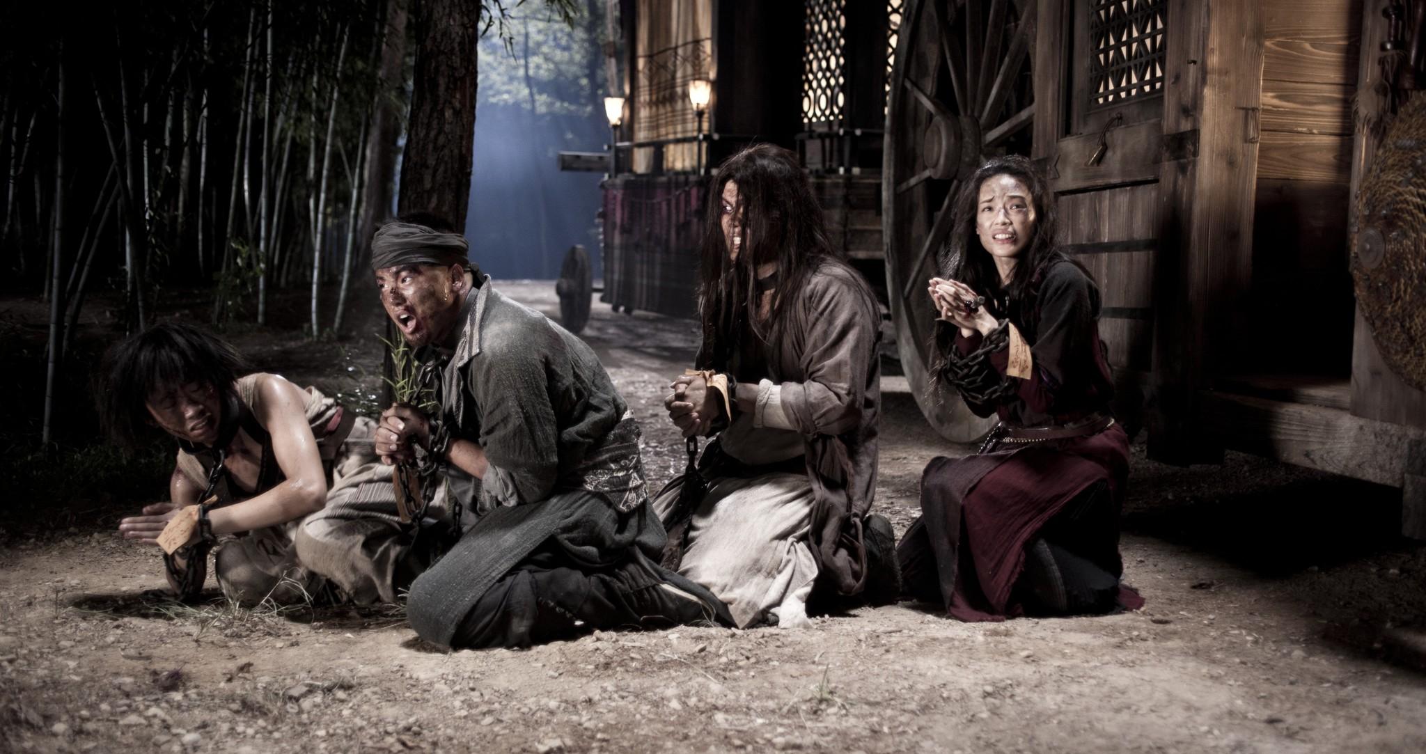 Still of Qi Shu, Xing Yu, Bo Huang and Zhang Wen in Kelione i vakarus (2013)