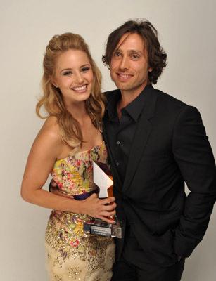 Brad Falchuk and Dianna Agron