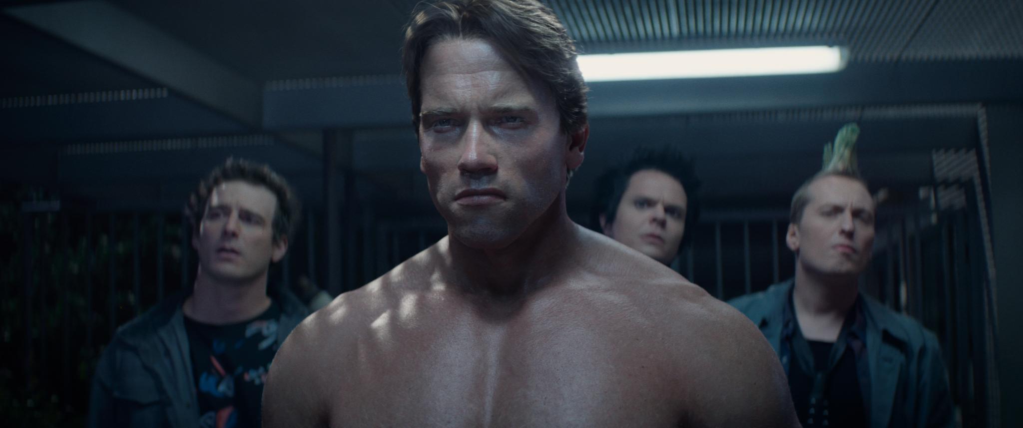 Still of John Edward, Luke Sexton and Edward Lee in Terminator Genisys (2015)