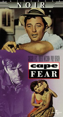 Robert Mitchum, Gregory Peck, Polly Bergen and Lori Martin in Cape Fear (1962)