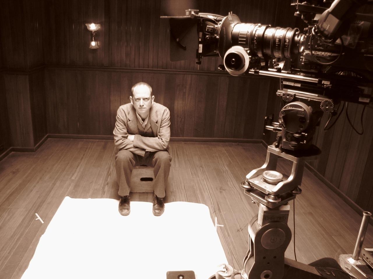 Robert Fulton on the set of