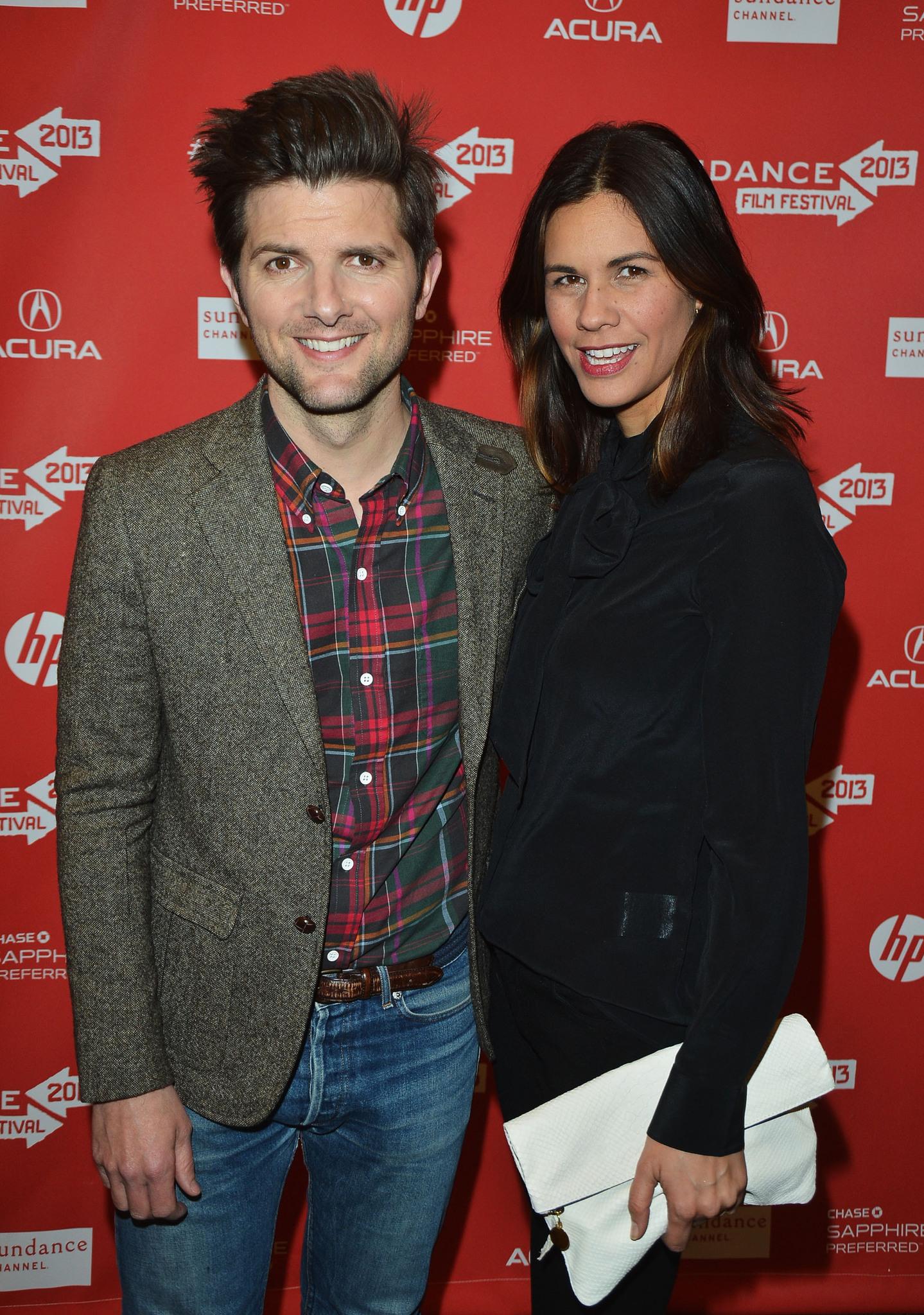 Adam Scott and Naomi Scott at event of A.C.O.D. (2013)