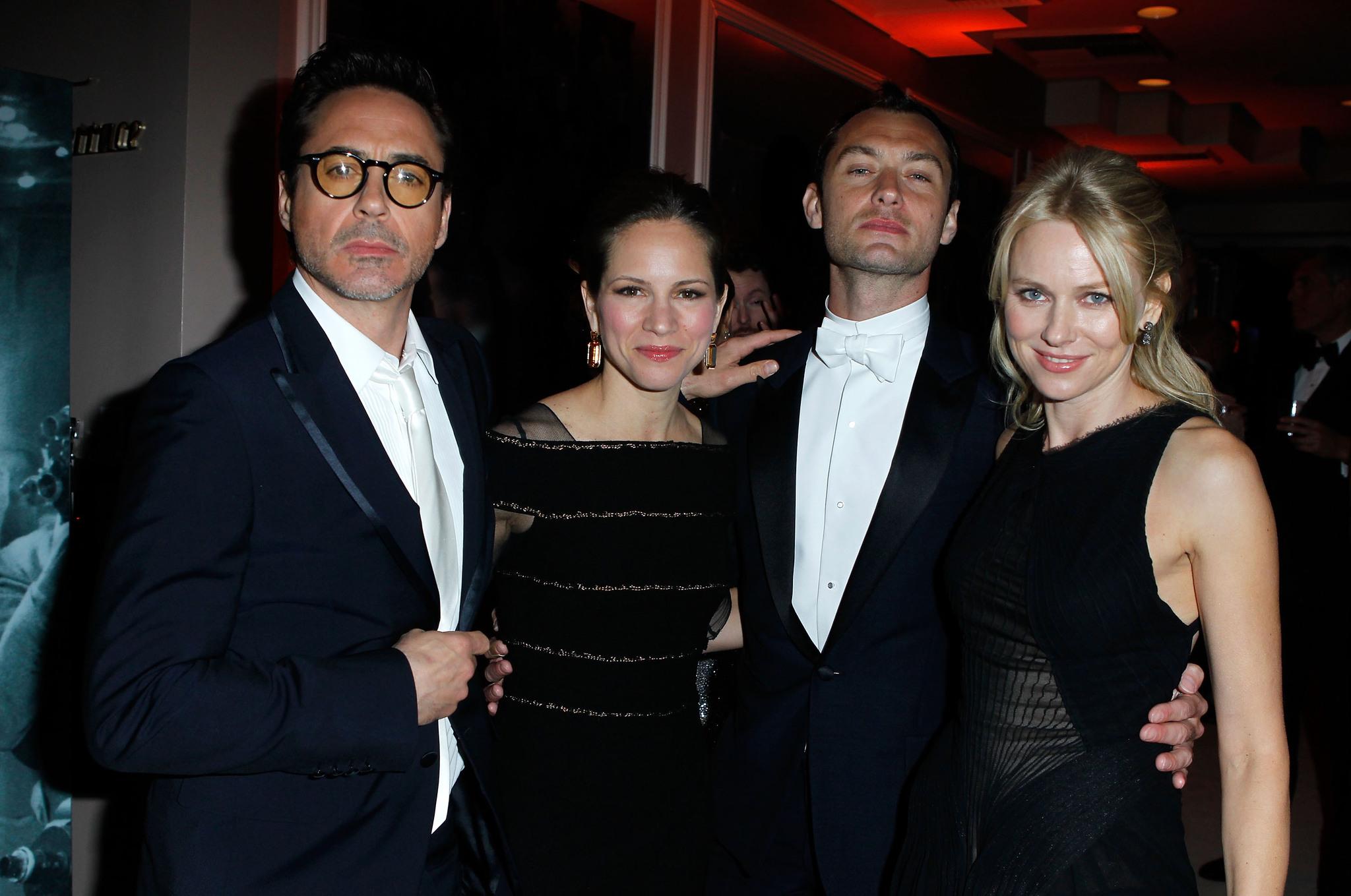 Jude Law, Robert Downey Jr., Naomi Watts and Susan Downey