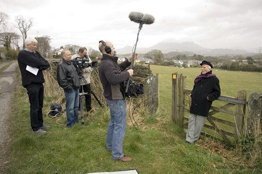 On Location Western Wales, UK, 2009. Field Producing Mickey Burn Documentary