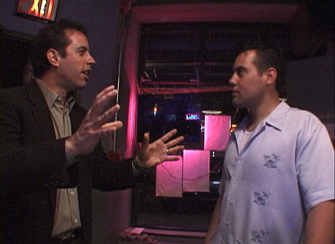 Still of Jerry Seinfeld and Orny Adams in Comedian (2002)