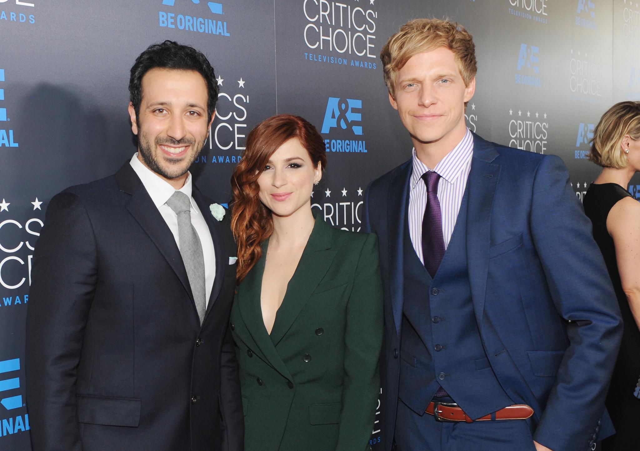 Chris Geere, Aya Cash and Desmin Borges