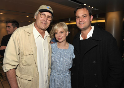 Chevy Chase, Michelle Williams and Jamie Patricof at event of Blue Valentine (2010)