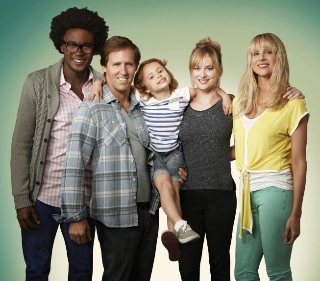 Still of Nat Faxon, Dakota Johnson, Lucy Punch, Maggie Elizabeth Jones and Echo Kellum in Ben and Kate (2012)