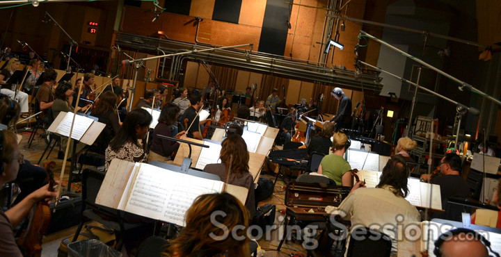 Ice Age: A Mammoth Christmas scoring session 20th Century Fox Newman Stage
