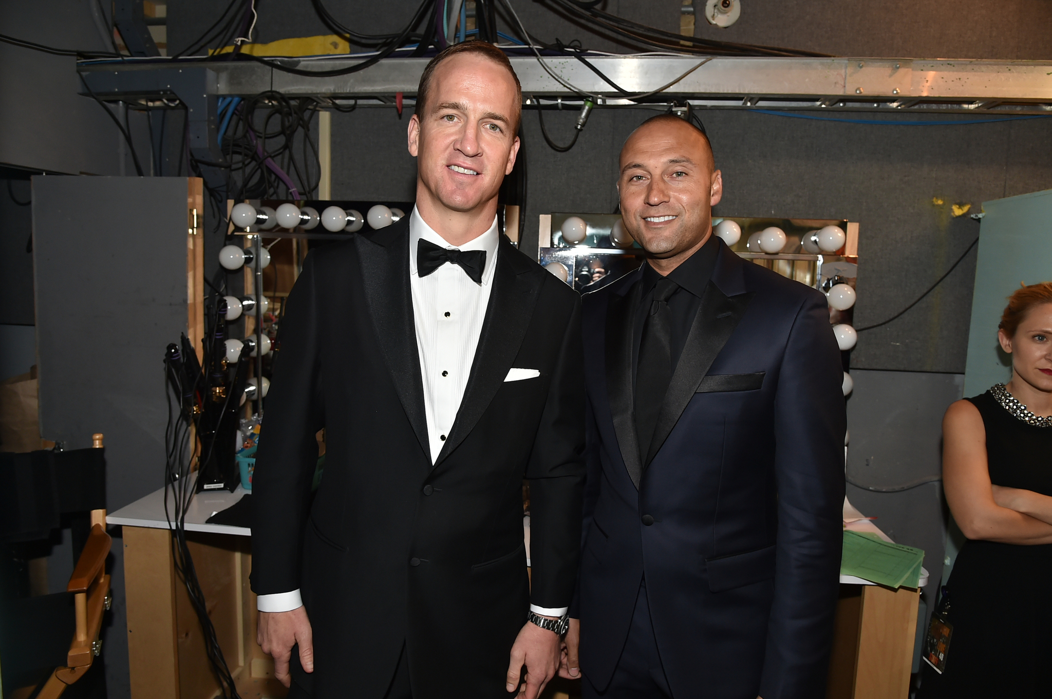 Derek Jeter and Peyton Manning at event of Saturday Night Live: 40th Anniversary Special (2015)