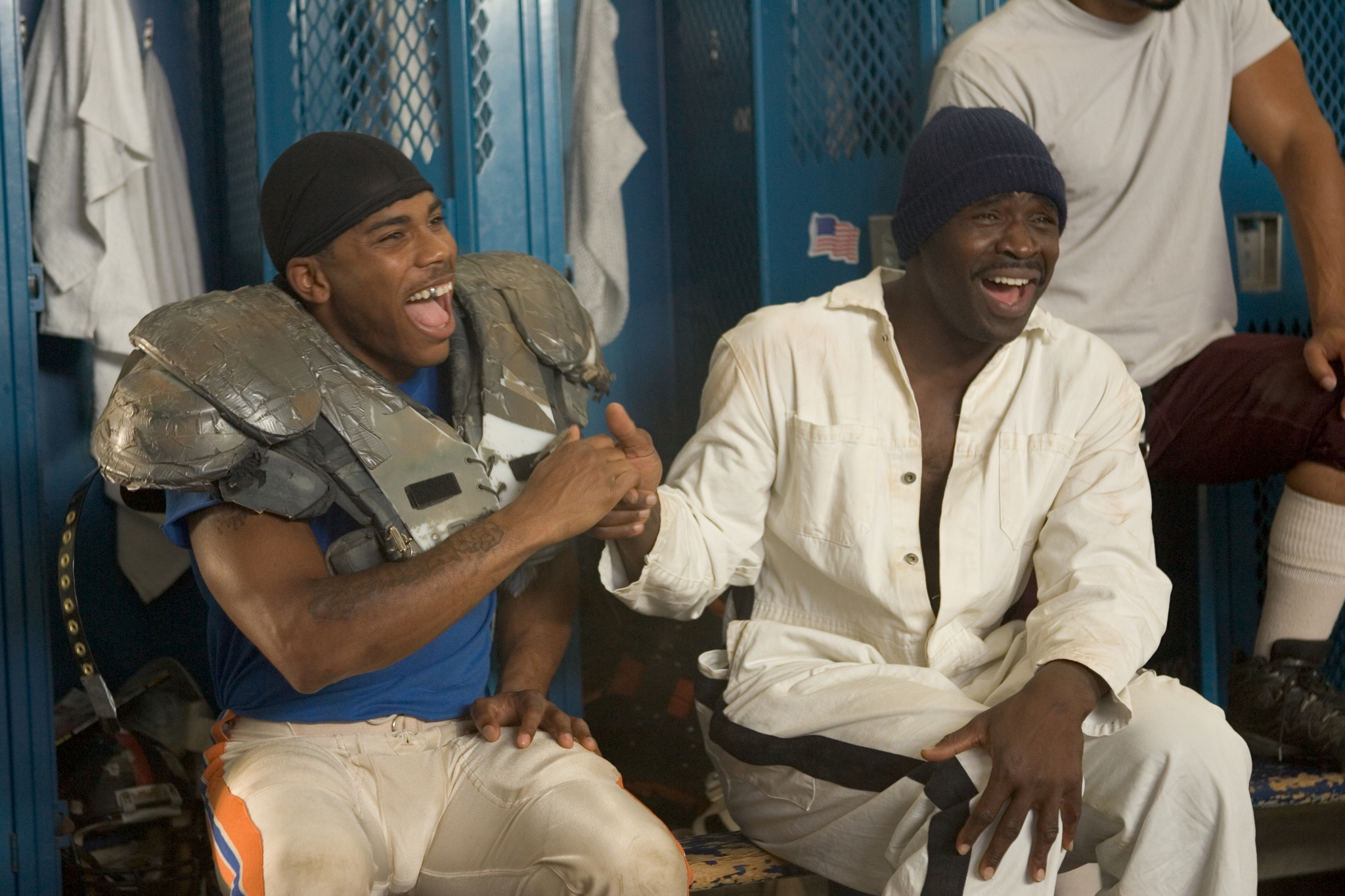Still of Nelly and Michael Irvin in The Longest Yard (2005)