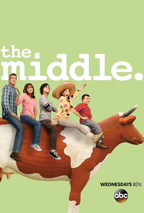 Patricia Heaton, Neil Flynn, Eden Sher, Charlie McDermott and Atticus Shaffer in The Middle (2009)