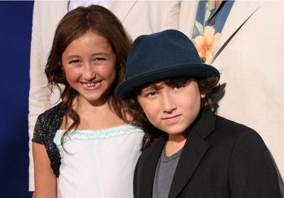 Noah Lindsey Cyrus and Frankie Jonas at event of Gake no ue no Ponyo (2008)