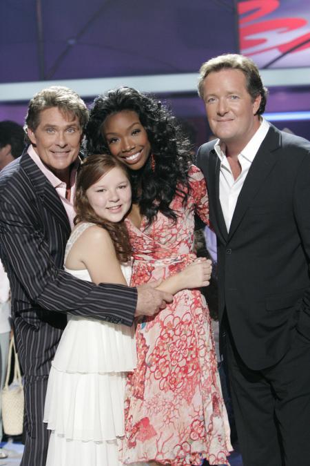 David Hasselhoff, Brandy Norwood, Piers Morgan and Bianca Ryan in America's Got Talent (2006)