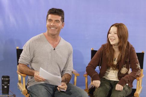 Simon Cowell and Bianca Ryan in America's Got Talent (2006)